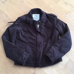 Abercrombie mens brown bomber jacket thinsulate